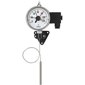Манометрический термометр с микропереключателем и капилляром