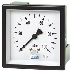 Манометр с мембранной коробкой, для низких диапазонов давления, медный сплав или нержавеющая сталь