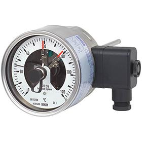 Биметаллический термометр с электроконтактами